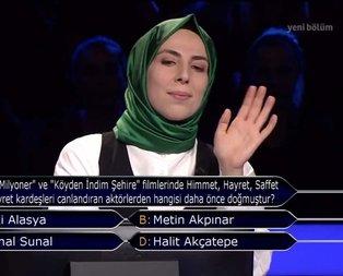 Milyoner'e damga vuran soru! Cevabı şaşırttı...