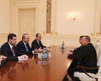 Bakan Çavuşoğlu, Aliyev ile görüştü