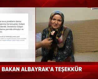 Gülşen Hayta'dan Bakan Albayrak'a teşekkür: Allah bir kere değil bin kere razı olsun