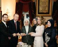 Yüzükleri Başkan Erdoğan taktı
