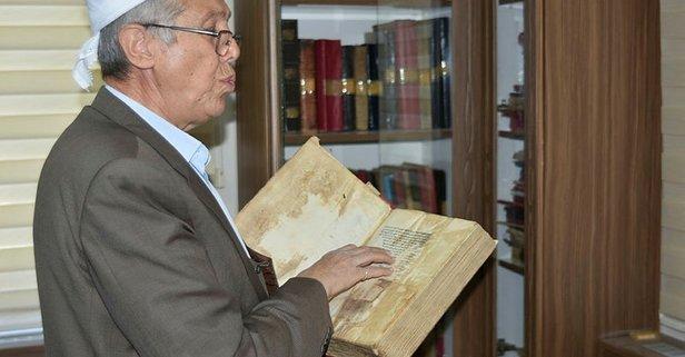 Bu köyde 6 asırlık el yazması ilim kitapları var