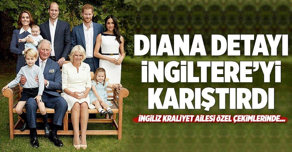 İngiliz Kraliyet Ailesi özel çekimlerinde Diana detayı