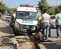 Trafik kazası: 2'si polis 3 kişİ...