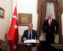 Bakan Akar, Türkiye'nin Bişkek Büyükelçiliğinde
