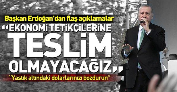 Başkan Erdoğan Bayburtta konuştu