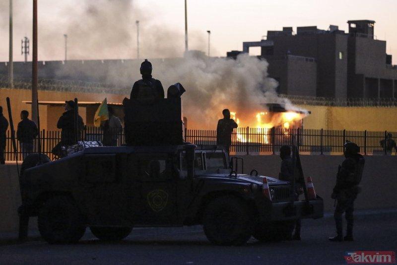 ABD'nin Bağdat Büyükelçiliği önündeki gösteriler ikinci gününde de sürüyor