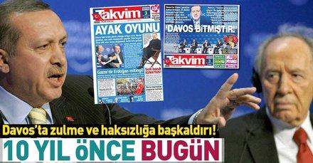 Başkan Recep Tayyip Erdoğan'ın Davos'taki 'one minute' çıkışının 10. yılı!