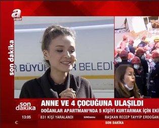 İzmir'de deprem sonrası güzel haber canlı yayında geldi: A Haber sunucusu Cansın Helvacı gözyaşlarını tutamadı