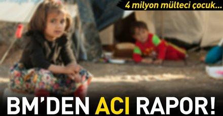 BM: 4 milyon mülteci çocuk okula gidemiyor