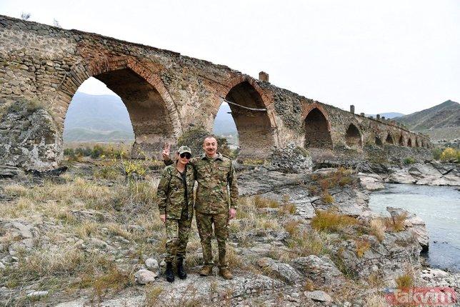Azerbaycan Cumhurbaşkanı İlham Aliyev, 28 yıl sonra Karabağ'da zafer turu attı