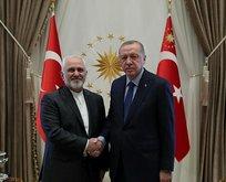 Başkan Erdoğan, İran Dışişleri Bakanı Zarif'i kabul etti