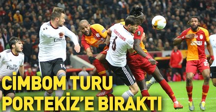 Galatasaray turu zora soktu! Galatasaray 1-2 Benfica