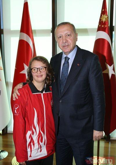 Başkan Erdoğan engellileri kabul etti