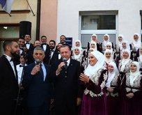 Erdoğan Boşnak gençlerin isteğini kırmadı