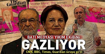 Batı medyası yıkım ekibini gazlıyor! İnce, Akşener, Karamollaoğlu ve Demirtaş'ı parlatıyor