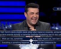 Milyoner'de geceye damga vuran Fatih Terim sorusu!