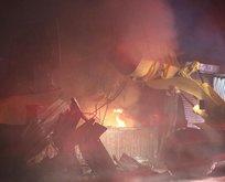 Konya'da alevler geceyi aydınlattı