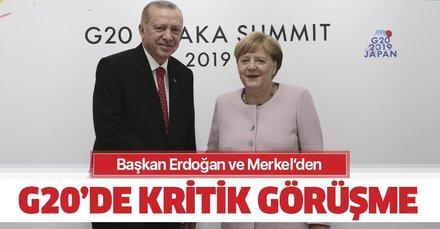 Başkan Recep Tayyip Erdoğan ile Merkel'den kritik görüşme