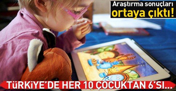 Türkiye'de her 10 çocuktan 6'sı...