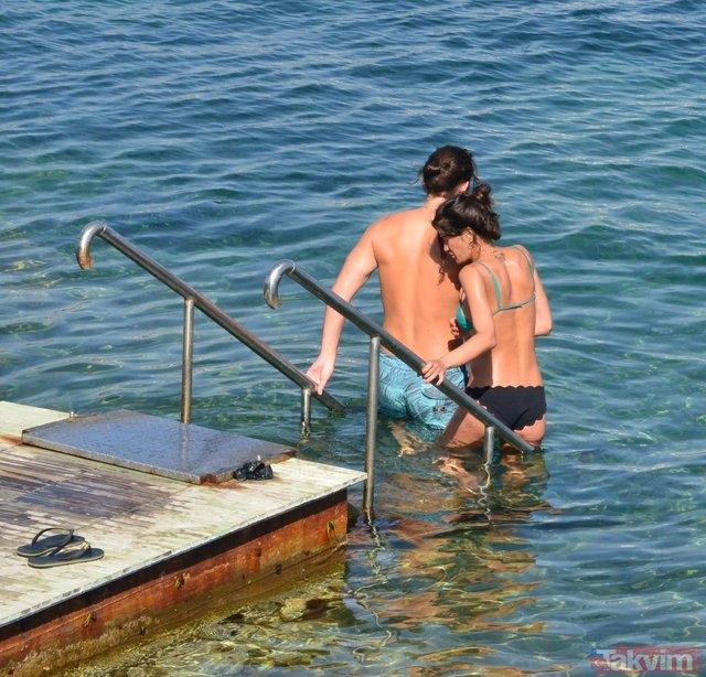 Berrak Tüzünataç ile Birkan Sokullu aşkı denizlere taştı