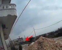 YPG'li keskin nişancının vurulma anı