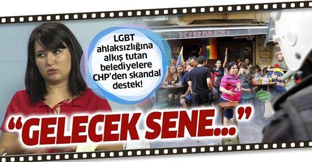 LGBT ahlaksızlığına CHP'den skandal destek!