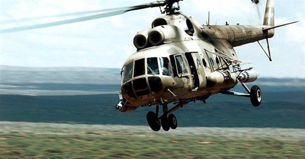 13 kişiyi taşıyan helikopter düştü