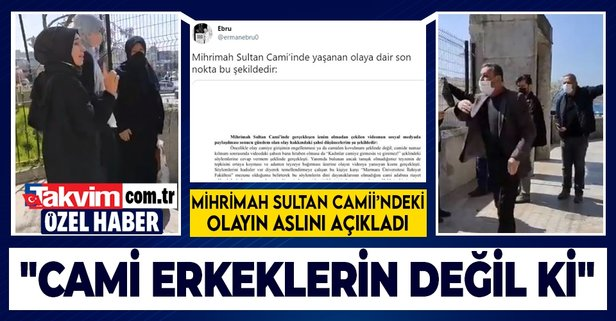 İşte Mihrimah Sultan Cami'indeki olayın aslı