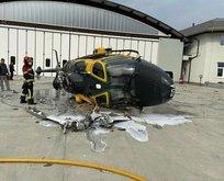 Helikopter faciası kamerada!