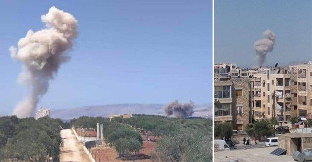 Rus uçakları, İdlib'in güneyini bombalıyor!