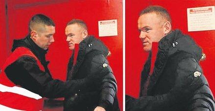 Old Trafford'a girişte Rooney'e üst araması