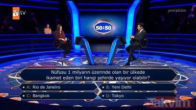 Tokyo dedi kaybetti! Kenan İmirzalıoğlu'nun sunduğu Kim Milyoner Olmak İster'de dikkat çeken 'nüfus' sorusu