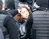 Polisi ısıran HDP'li bu kez de tekme attı