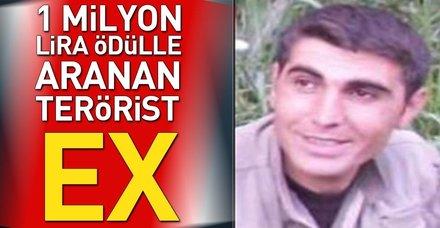 1 milyon lira ödülle aranan terörist etkisiz hale getirildi