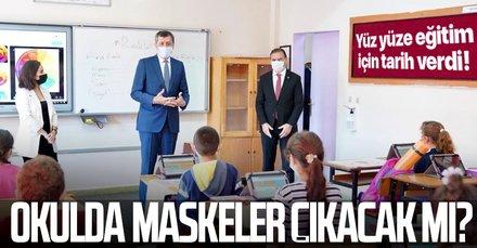 Milli Eğitim Bakanı Selçuk yüz yüze eğitim için tarih verdi: Maskesiz eğitim...