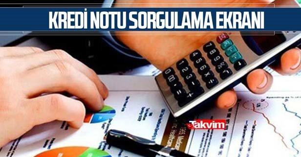 E-devlet kredi notu sorgulama ve öğrenme işlemleri 2021!