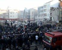 İstanbulda bina çöktü!