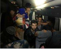 40 düzensiz göçmen ve 2 kaçakçı yakalandı