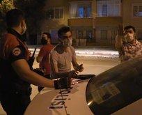 Polise boş kağıdı izin belgesi olarak gösterdiler