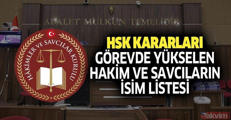 HSK kararları Resmi Gazete'de! İşte görevde yükselen hakim ve savcıların isim listesi