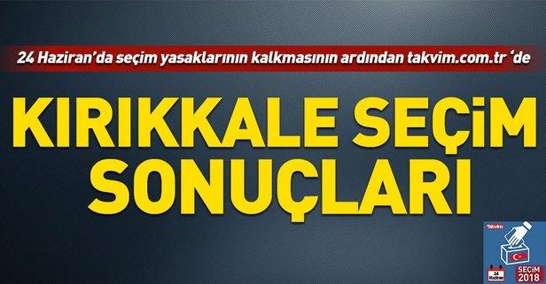 Kırıkkale seçim sonuçları! 2018 Kırıkkale  seçim sonuçları... 24 Haziran 2018 Kırıkkale  seçim sonuçları ve oy oranları...