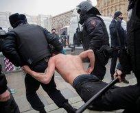 Rusya karıştı! Çok sayıda gözaltı