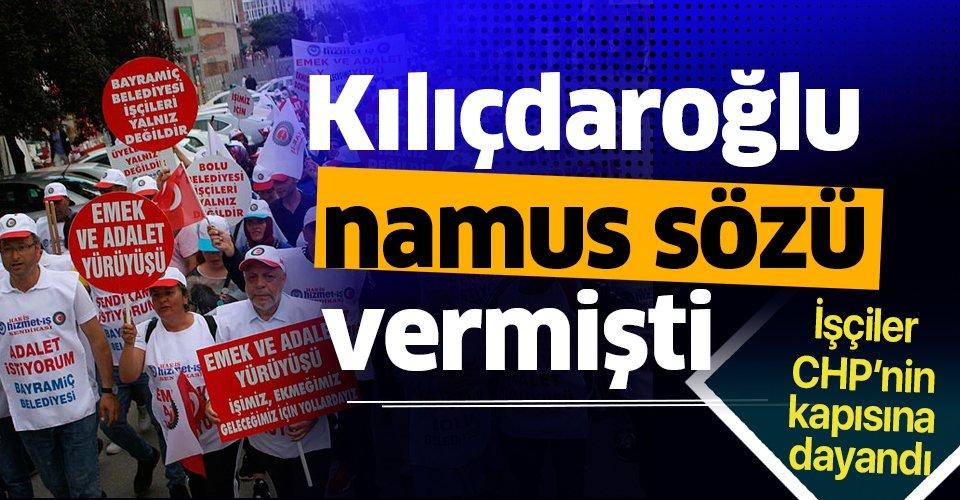 11 gündür Bolu'dan Ankara'ya yürüyen işçiler CHP'nın kapısına dayandı! Kılıçdaroğlu namus sözü vermişti