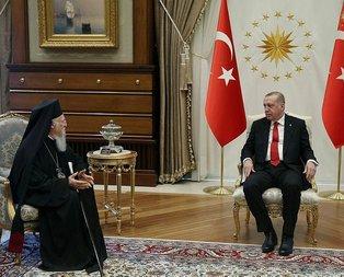 Erdoğan, Bartholomeosu Beştepede kabul etti
