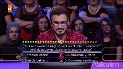 Kim Milyoner Olmak İster? 770. Bölüm soru ve cevapları...