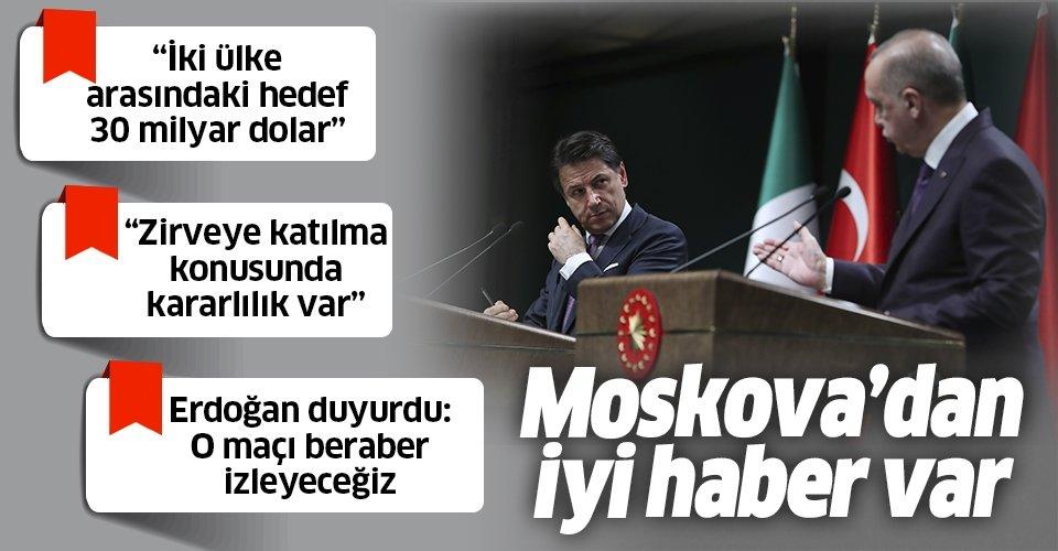 Son dakika: Başkan Erdoğan ve İtalya Başbakanı Conte'den flaş Libya açıklaması