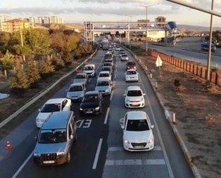 43 ilin geçiş güzergahında trafik yoğunluğu! Akın ettiler