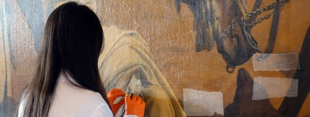 Türkiye'deki en büyük oryantalist tablo sergilenmek için gün sayıyor