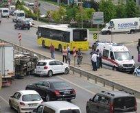 Kadıköy'de feci kaza! Trafik felç oldu