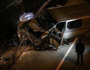 İstanbul'da korkunç kaza! Kontrolden çıkan araçlar demir bariyerin altına girdi